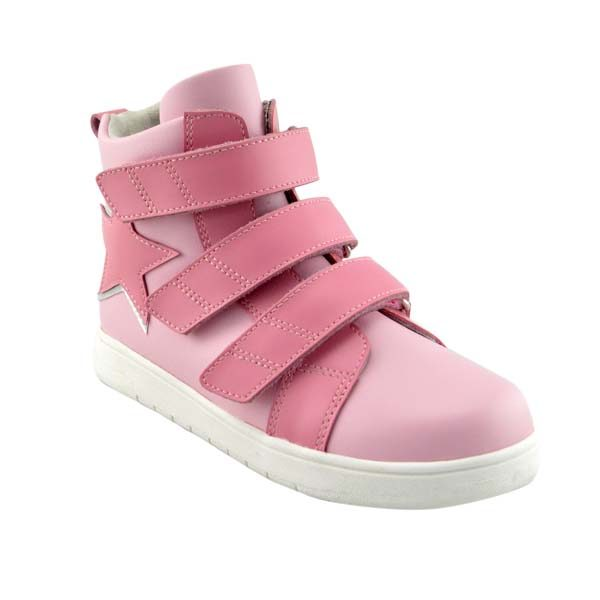 Rose – Girls Hi Top Pink Trainer