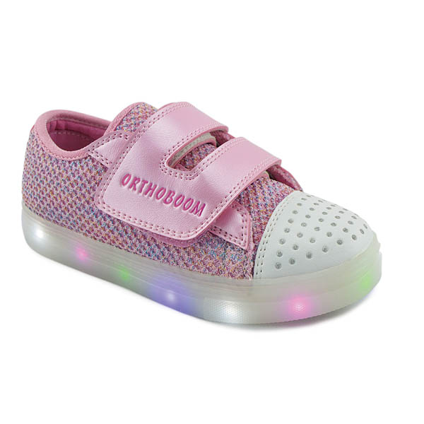 Girls supportive pink light up trainer