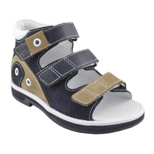 Boys Supportive Sandal in Beige and Brown